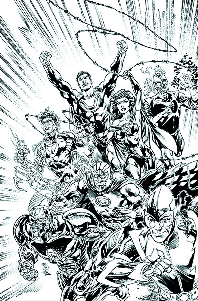 JUSTICE LEAGUE #24 BLACK & WHITE VAR ED