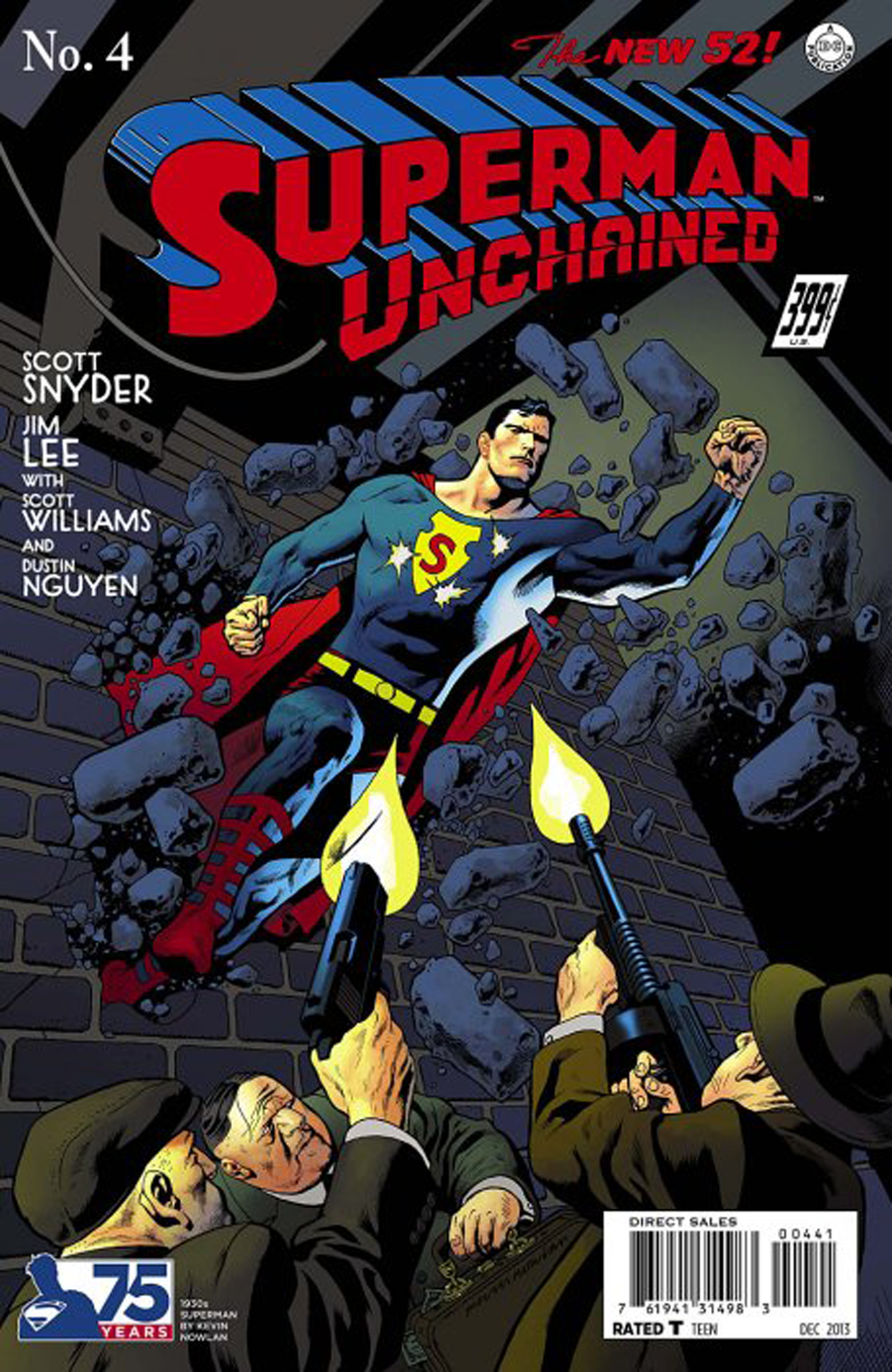 SUPERMAN UNCHAINED #4 75TH ANNIV VAR ED 1930S COVER