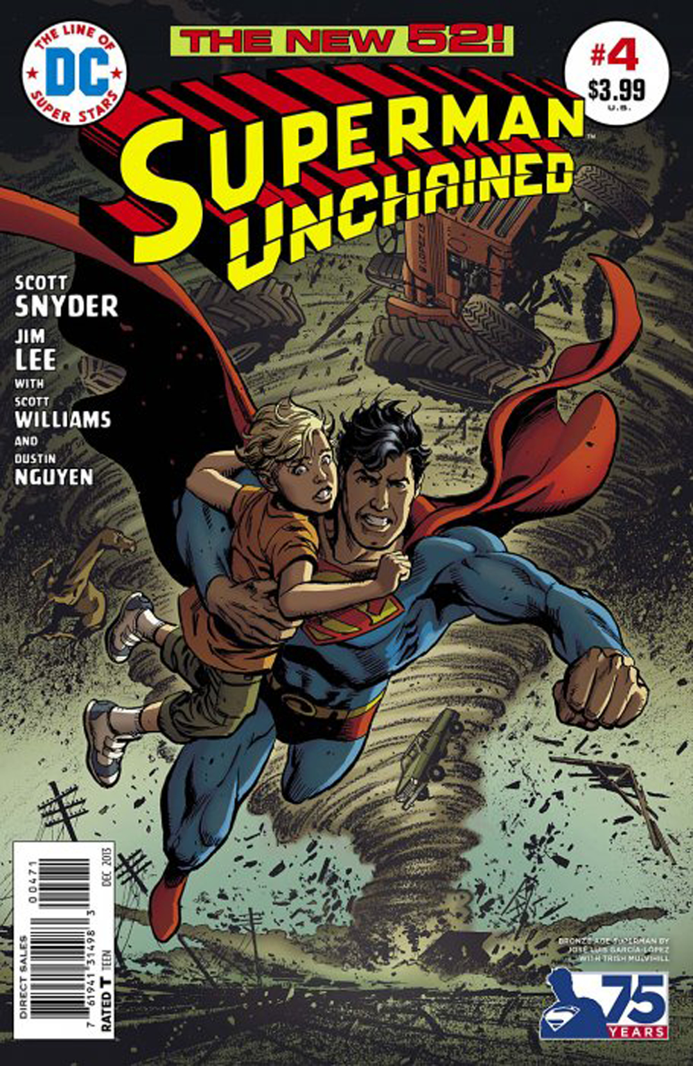 SUPERMAN UNCHAINED #4 75TH ANNIV VAR ED BRONZE AGE