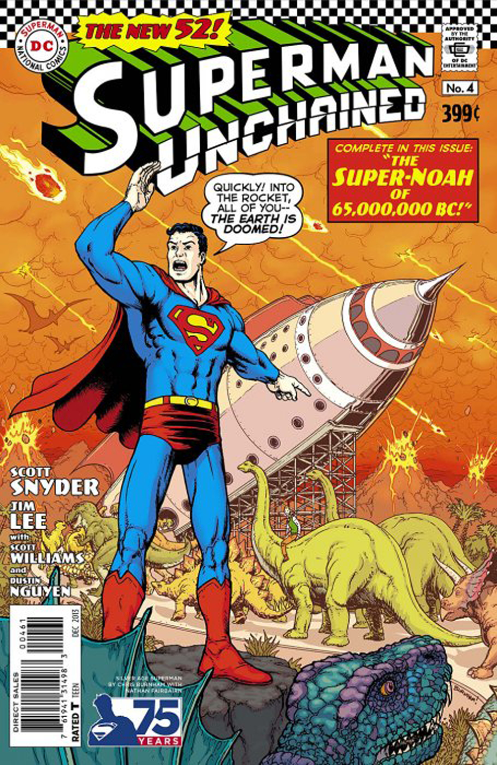 SUPERMAN UNCHAINED #4 75TH ANNIV VAR ED SILVER AGE