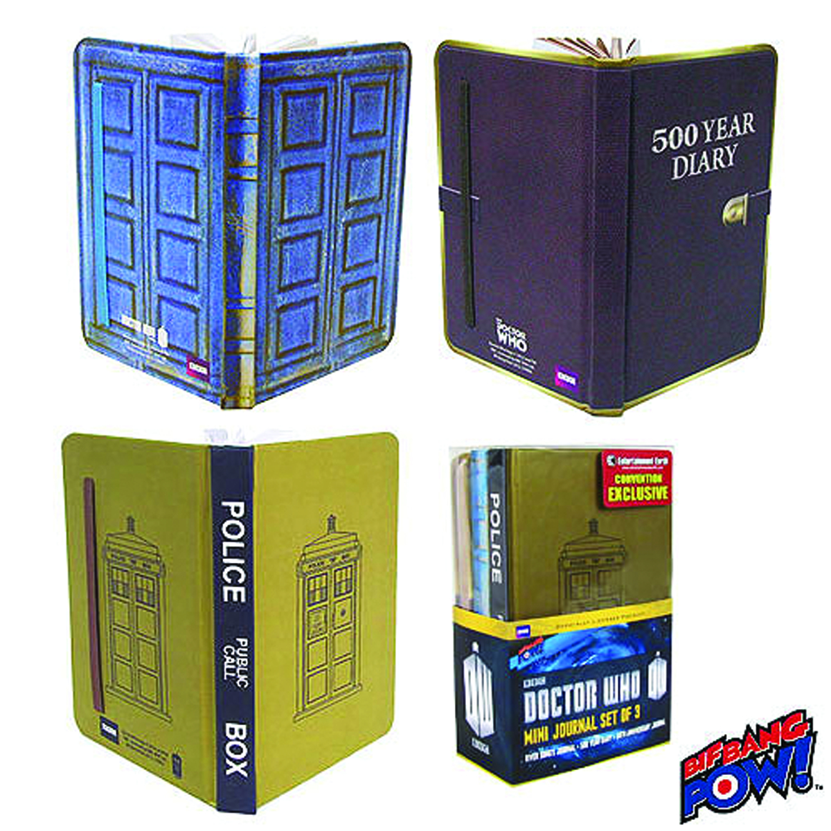 DOCTOR WHO 3PC MINI-JOURNAL SET