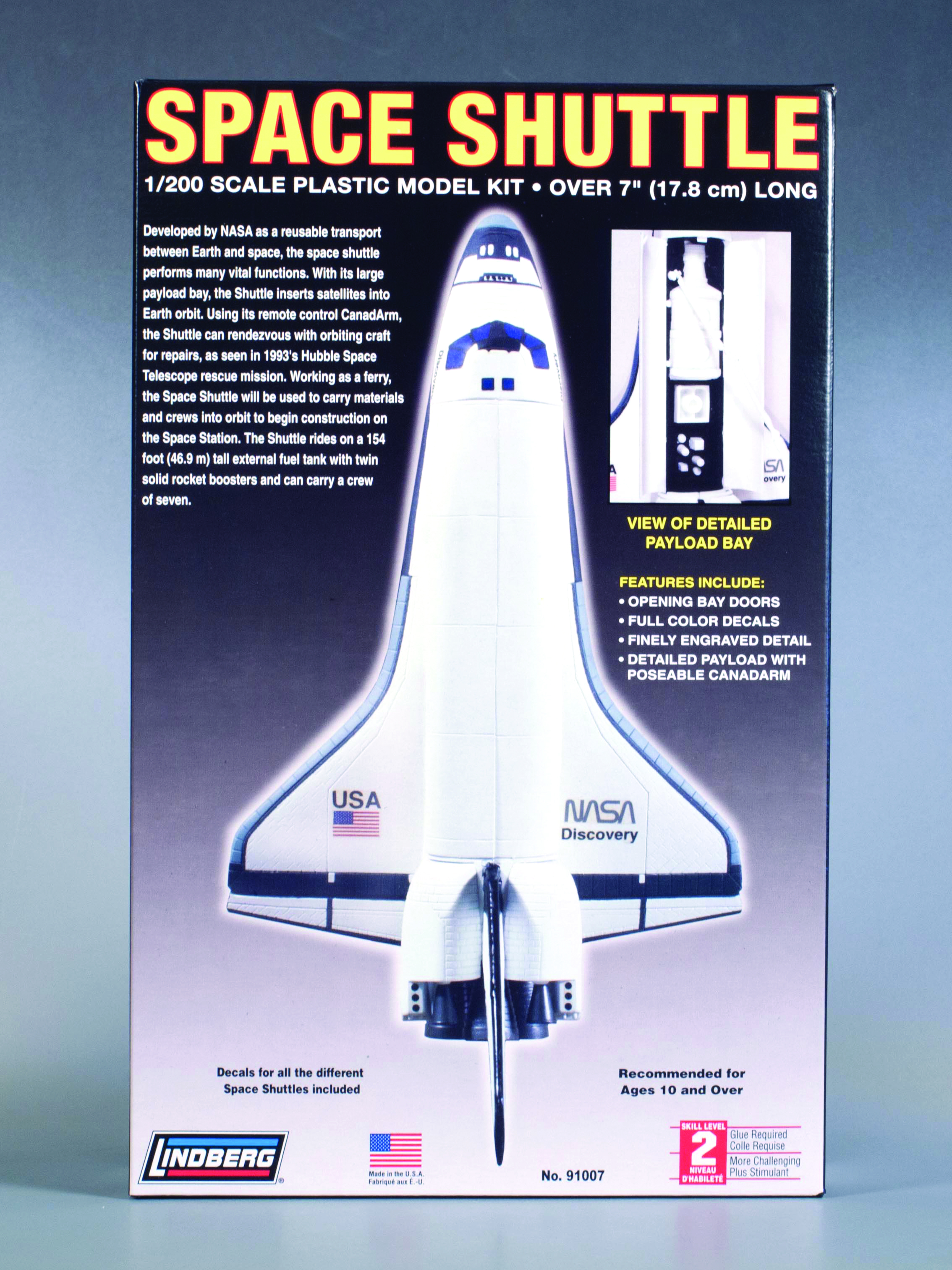 LINDBERG SPACE SHUTTLE 1/200 SCALE MODEL KIT