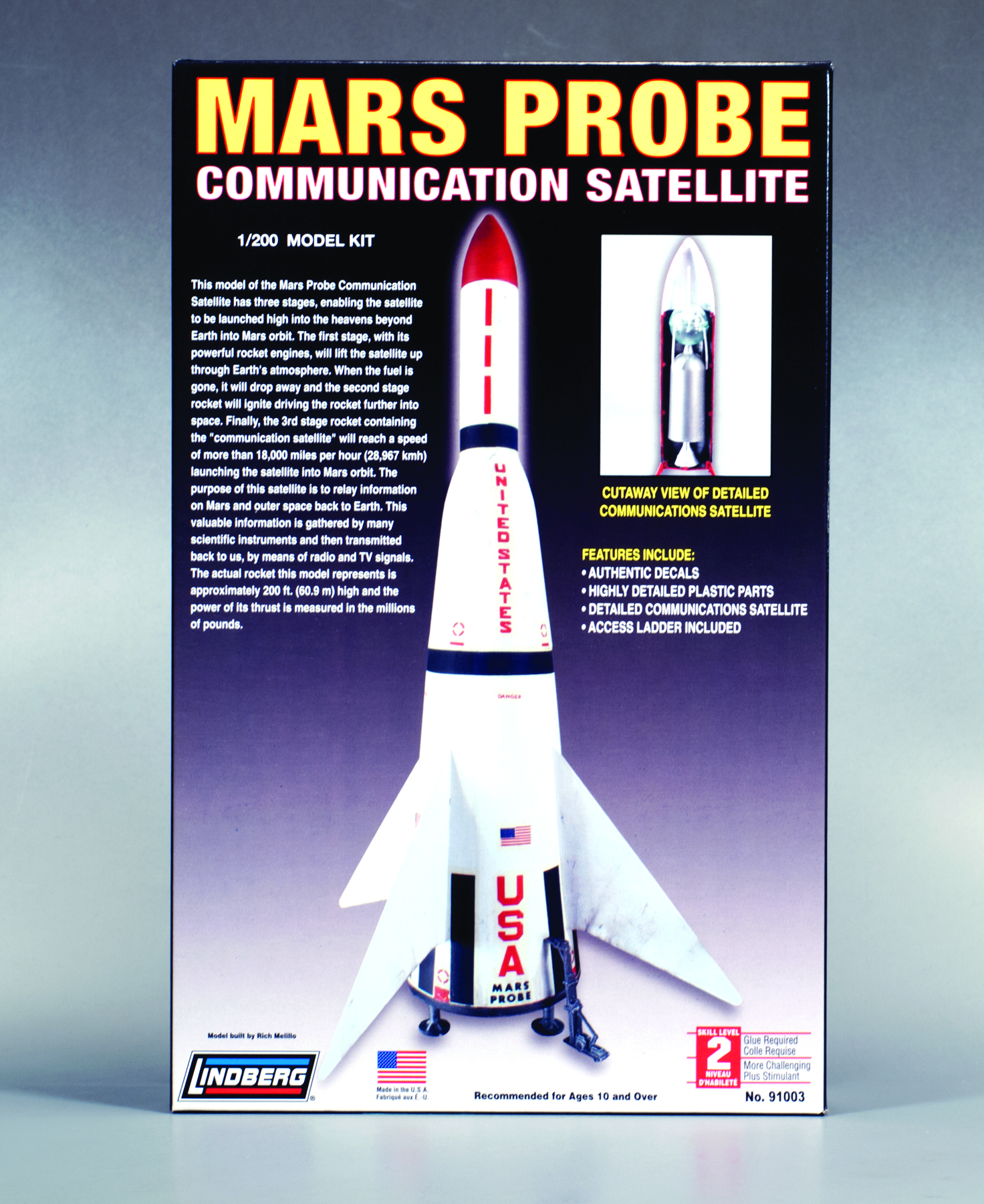 LINDBERG MARS PROBE 1/200 SCALE MODEL KIT