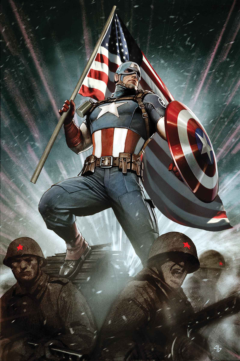 CAPTAIN AMERICA LIVING LEGEND BY GRANOV POSTER