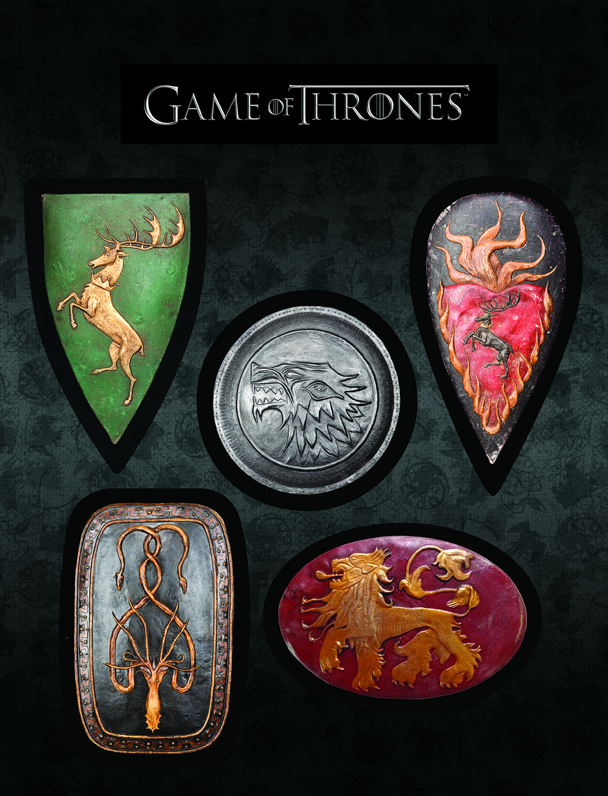 GAME OF THRONES MAGNET SET SHIELDS