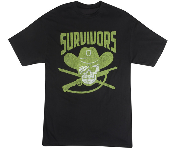 WALKING DEAD SURVIVORS T/S MENS LG