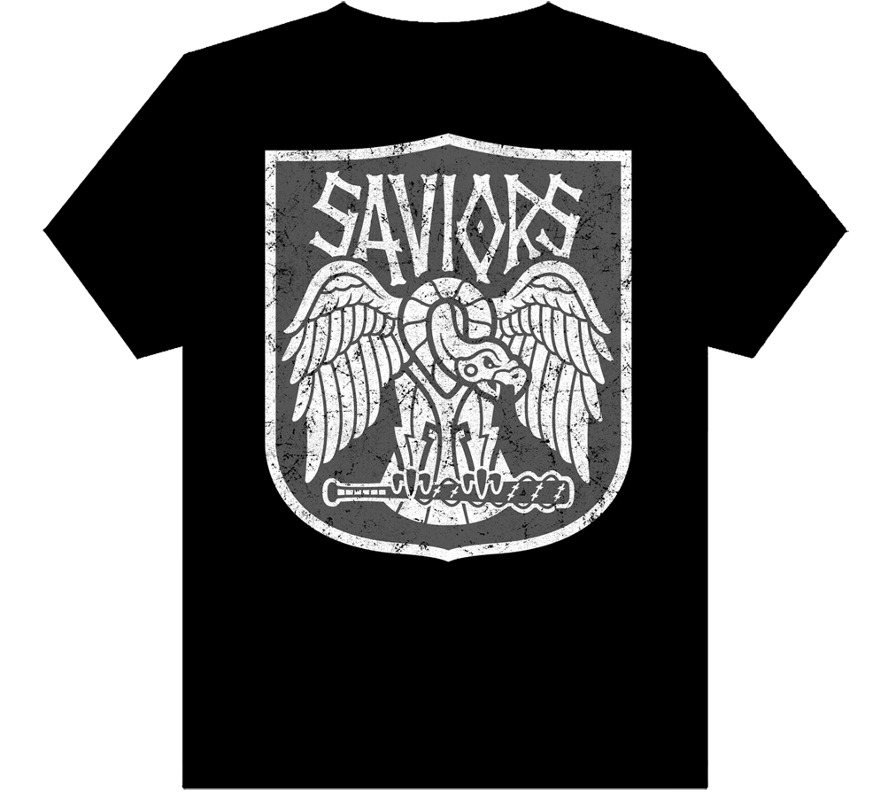 WALKING DEAD SAVIORS T/S MENS LG
