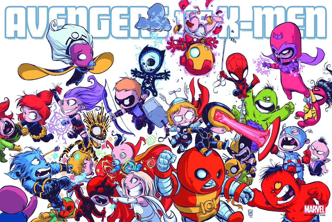 AVENGERS VS X-MEN BY YOUNG POSTER NEW PTG