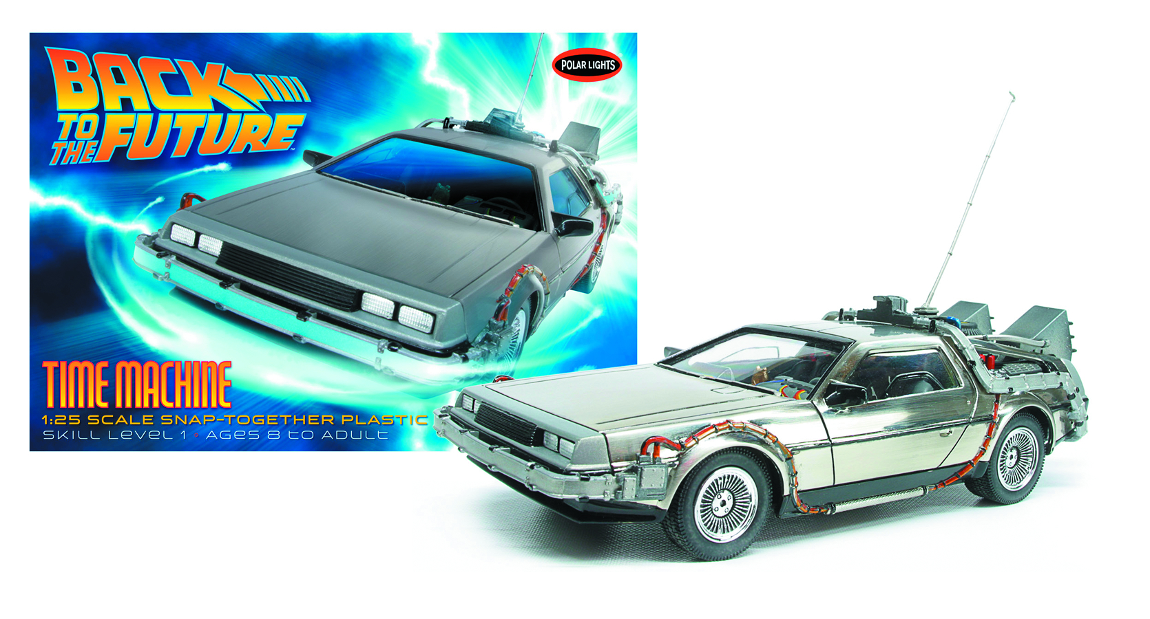 BTTF TIME MACHINE 1/25 SCALE MODEL KIT