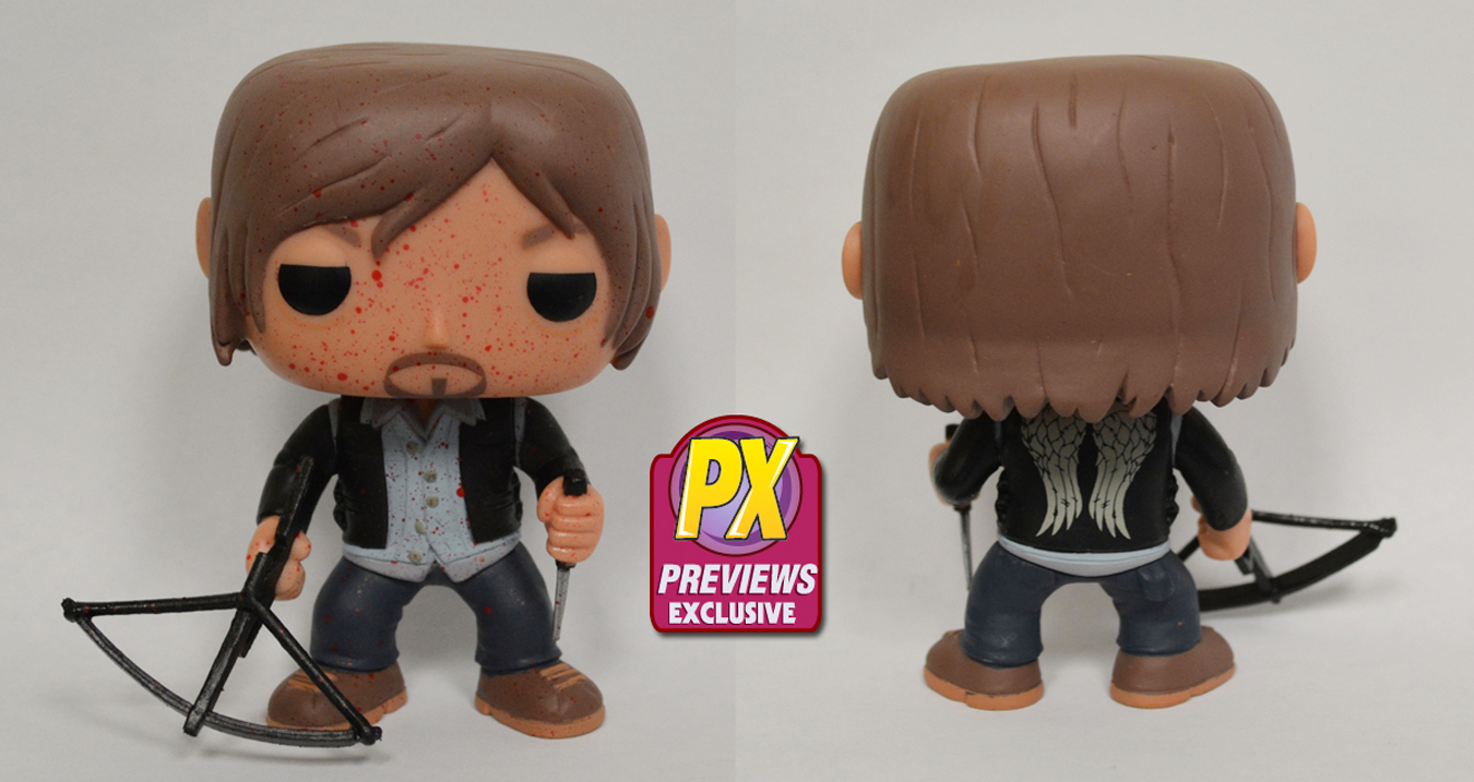 POP WALKING DEAD BIKER DARYL PX VINYL FIG BLOODY VER