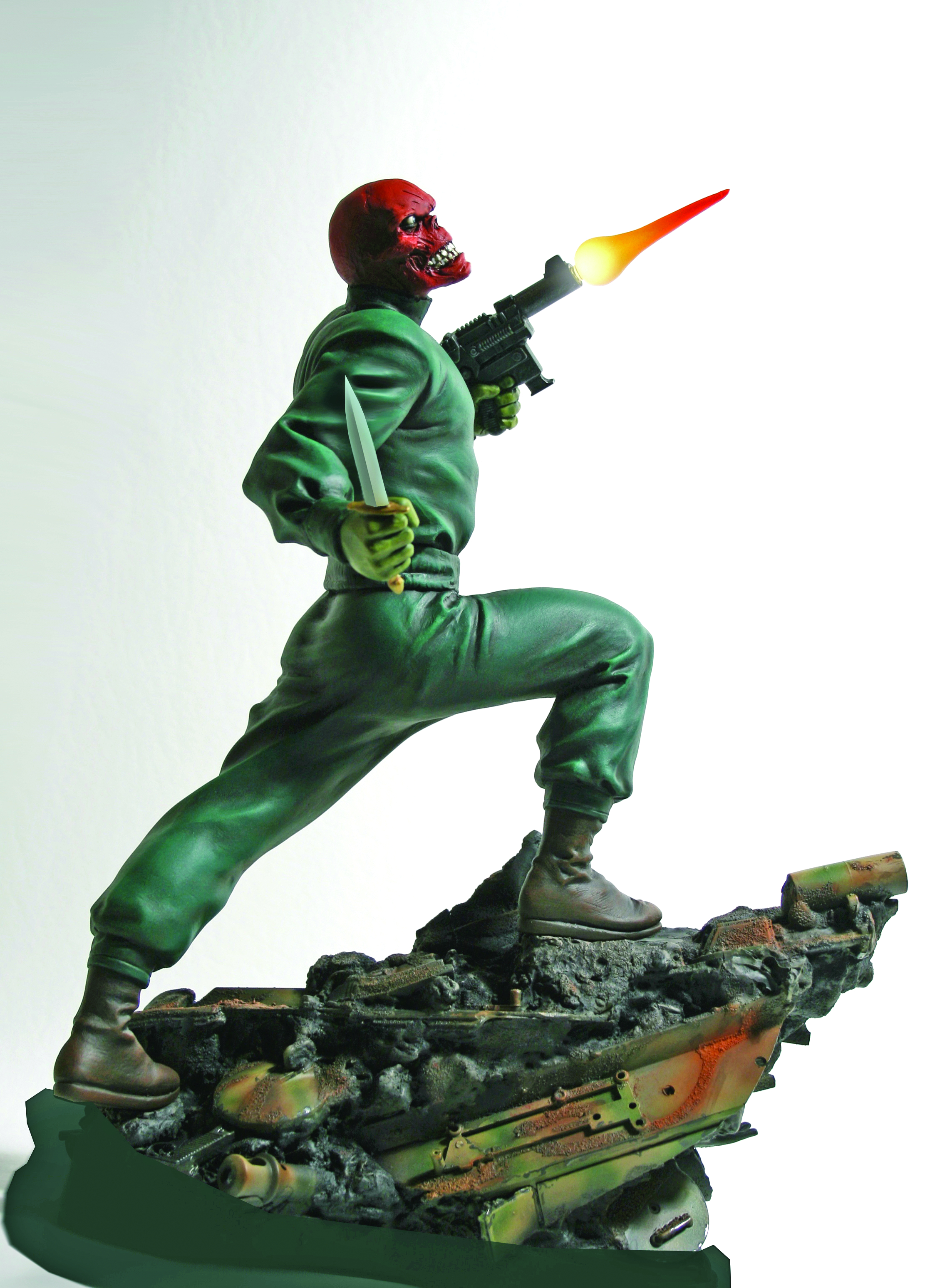 RED SKULL ACTION STATUE