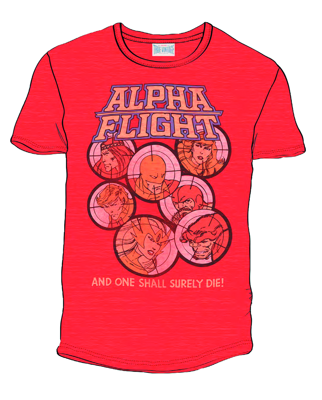 ALPHA FLIGHT PX RED HEATHER T/S XL