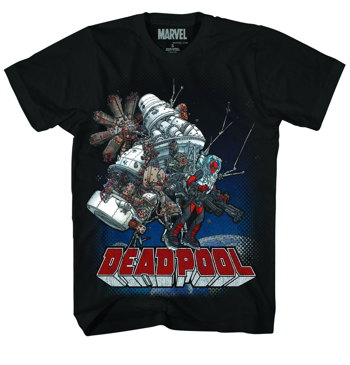 DEADPOOL WADE SPACE PX BLK T/S MED