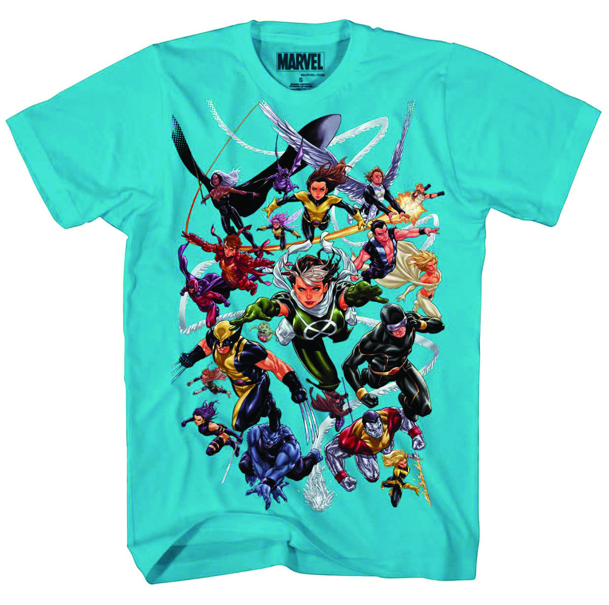 X-MEN FLYING FORWARD PX TURQ T/S LG