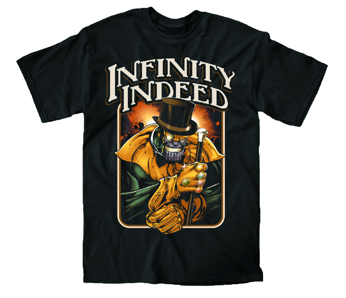 THANOS INFINITY INDEED PX BLK T/S SM