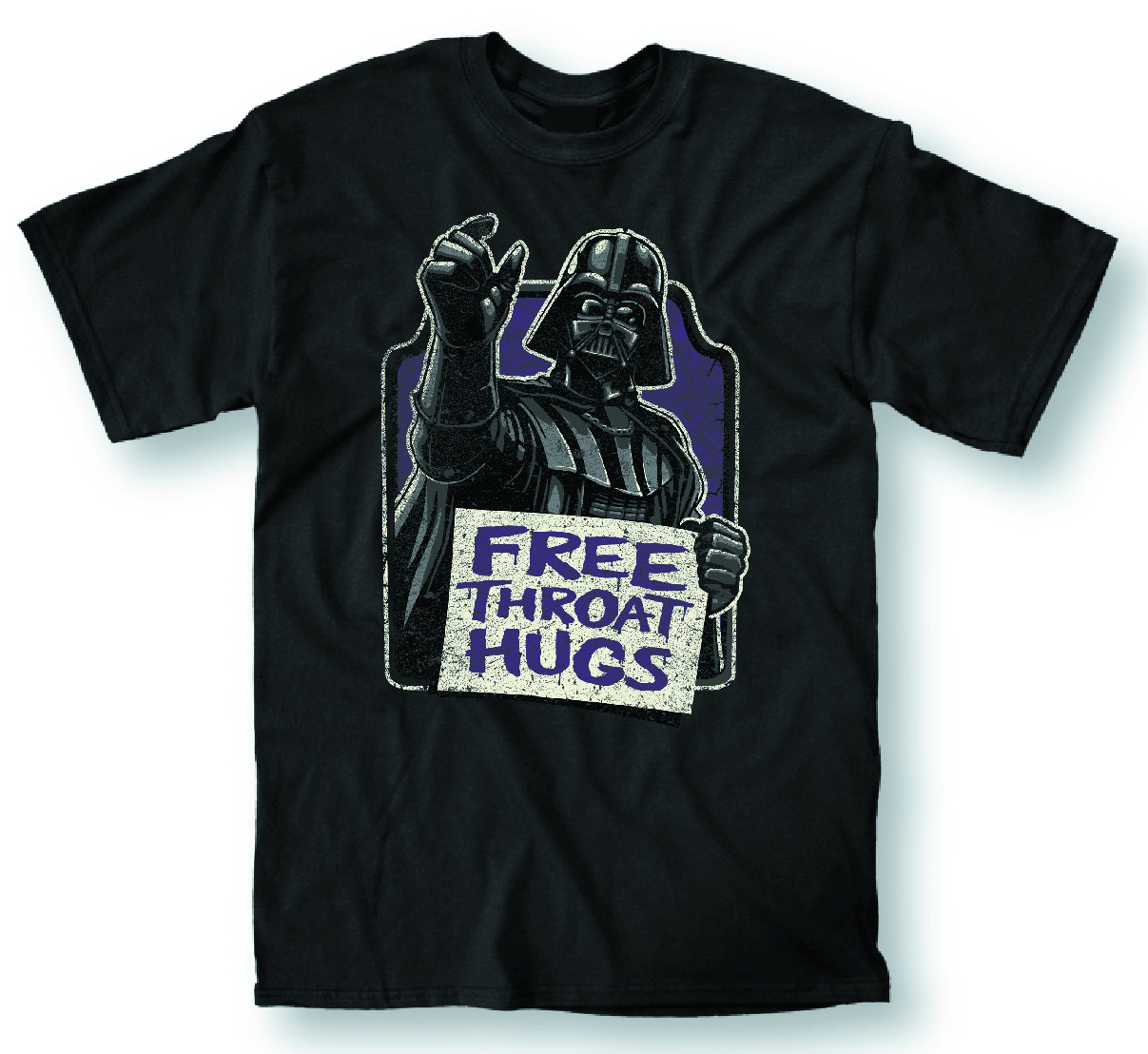 STAR WARS FREE THROAT HUGS BLK T/S SM