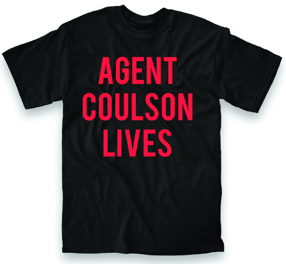 SHIELD COULSON LIVES BLK T/S LG