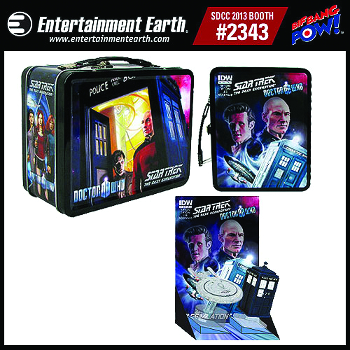 DOCTOR WHO ST TNG MONITOR MATE TIN TOTE GIFT SET