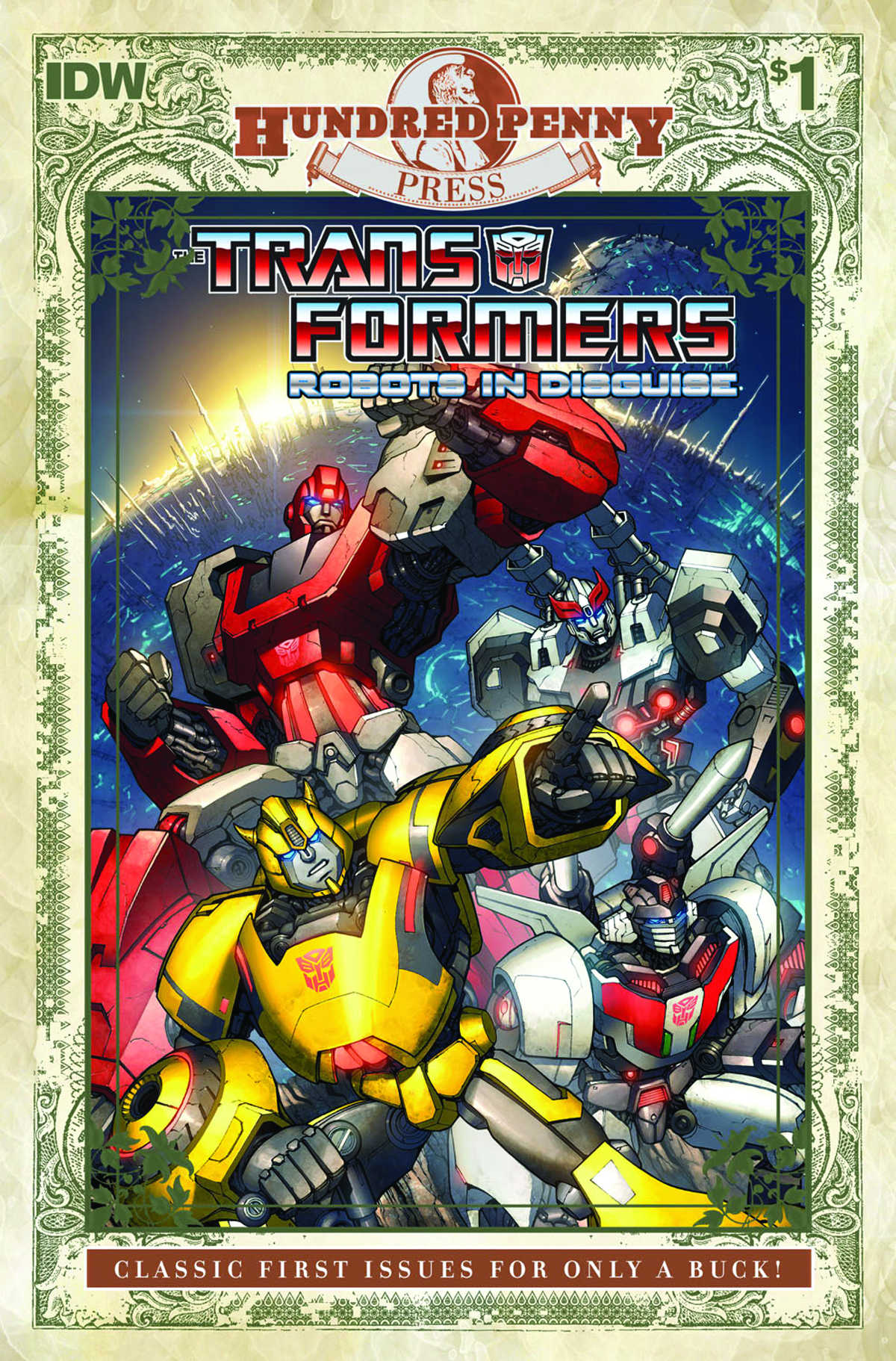 TRANSFORMERS ROBOTS IN DISGUISE 100 PENNY PRESS #1