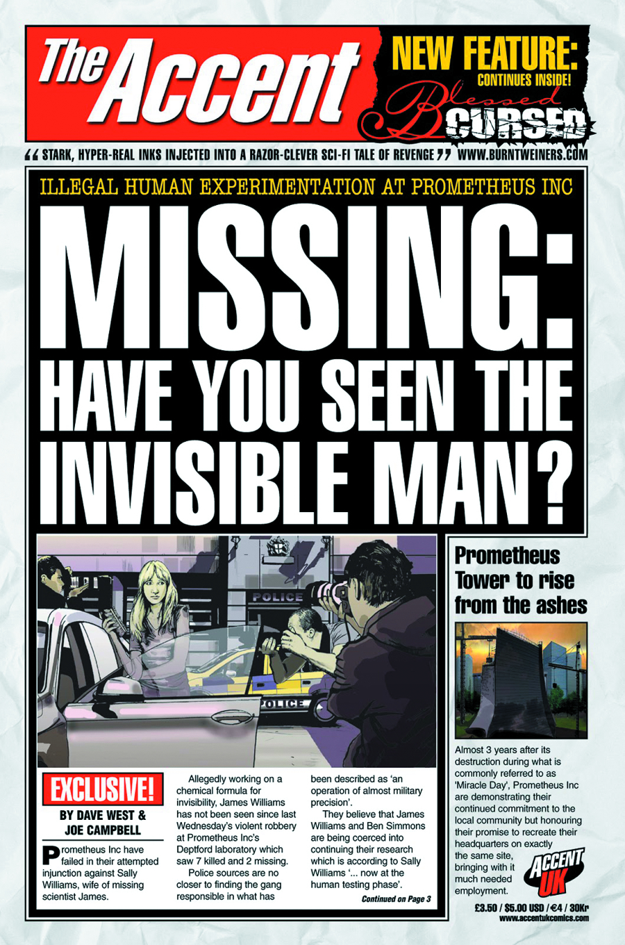 MISSING HAVE YOU SEEN THE INVISIBLE MAN ONE SHOT