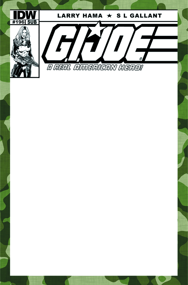 GI JOE A REAL AMERICAN HERO #196 SUBSCRIPTION VAR