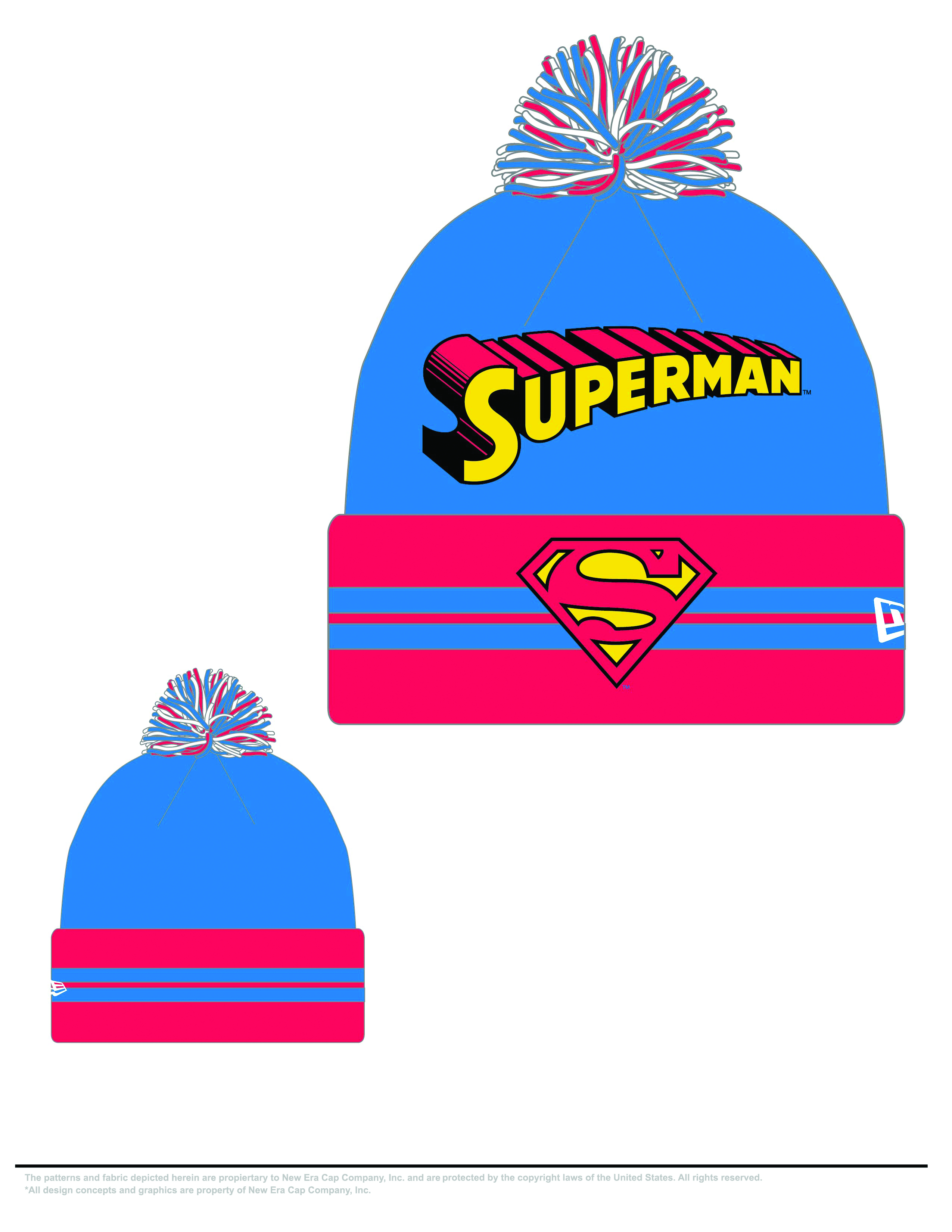 SUPERMAN HERO WIDE POINT KNIT HAT