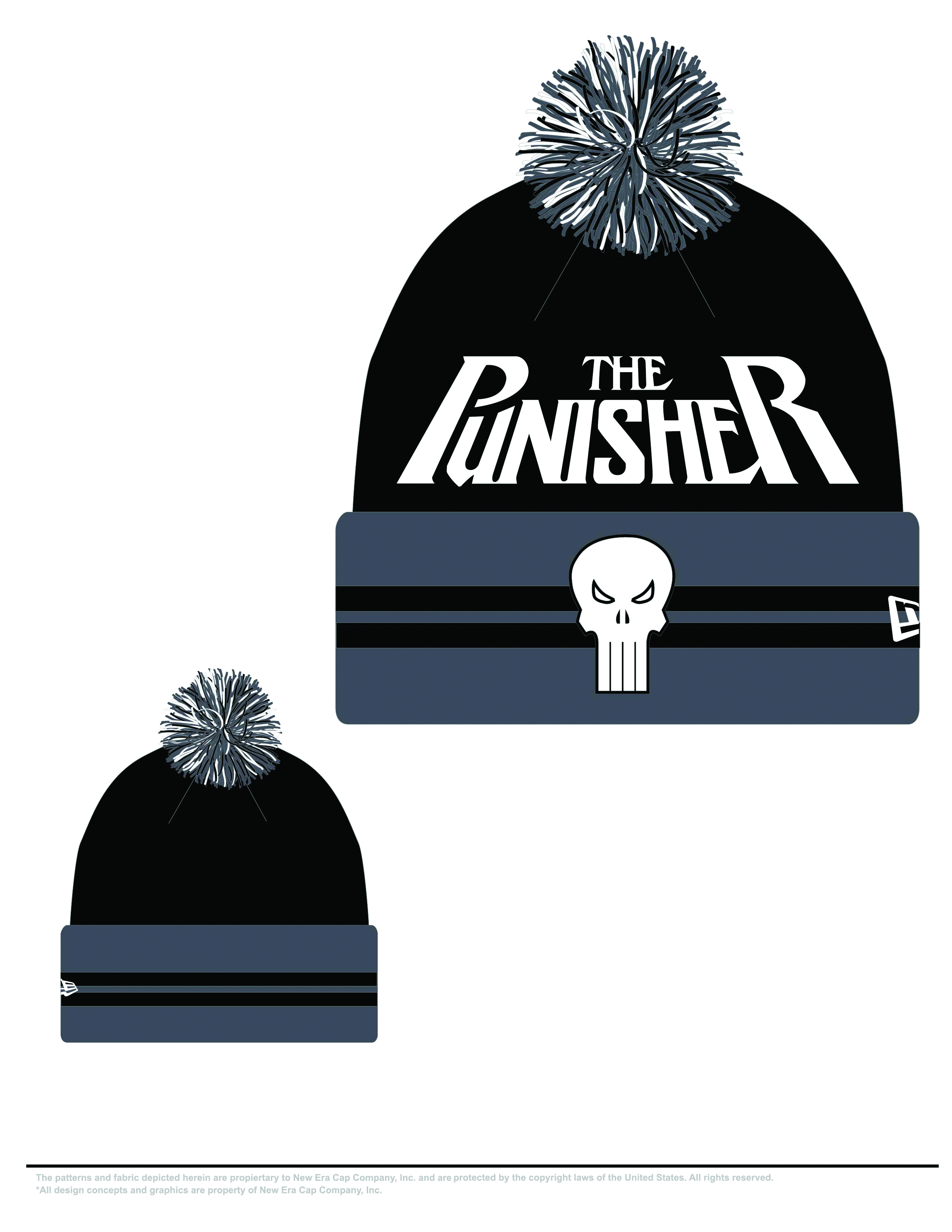 PUNISHER HERO WIDE POINT KNIT HAT