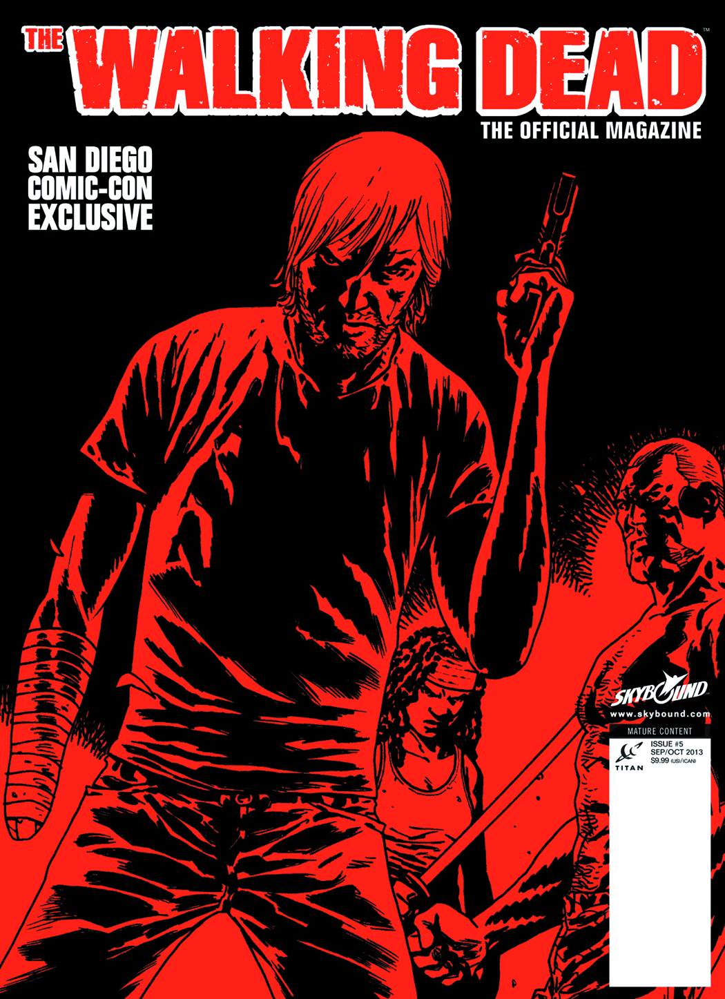 WALKING DEAD MAGAZINE #5 SDCC EXCLUSIVE COVER