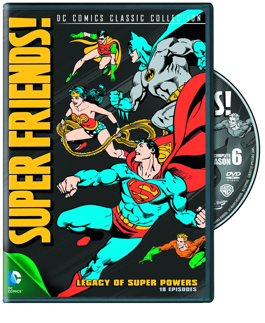 SUPER FRIENDS LEGACY OF SUPER POWERS DVD