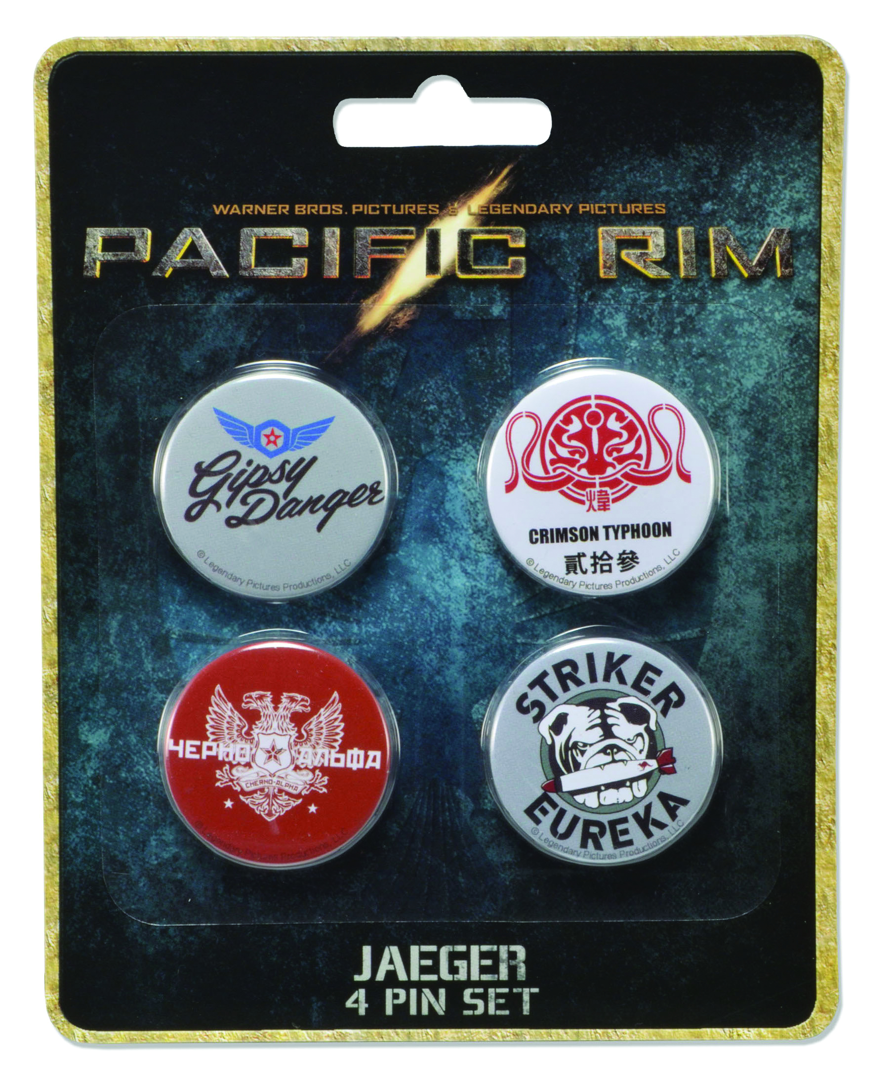 PACIFIC RIM JAEGER PIN SET