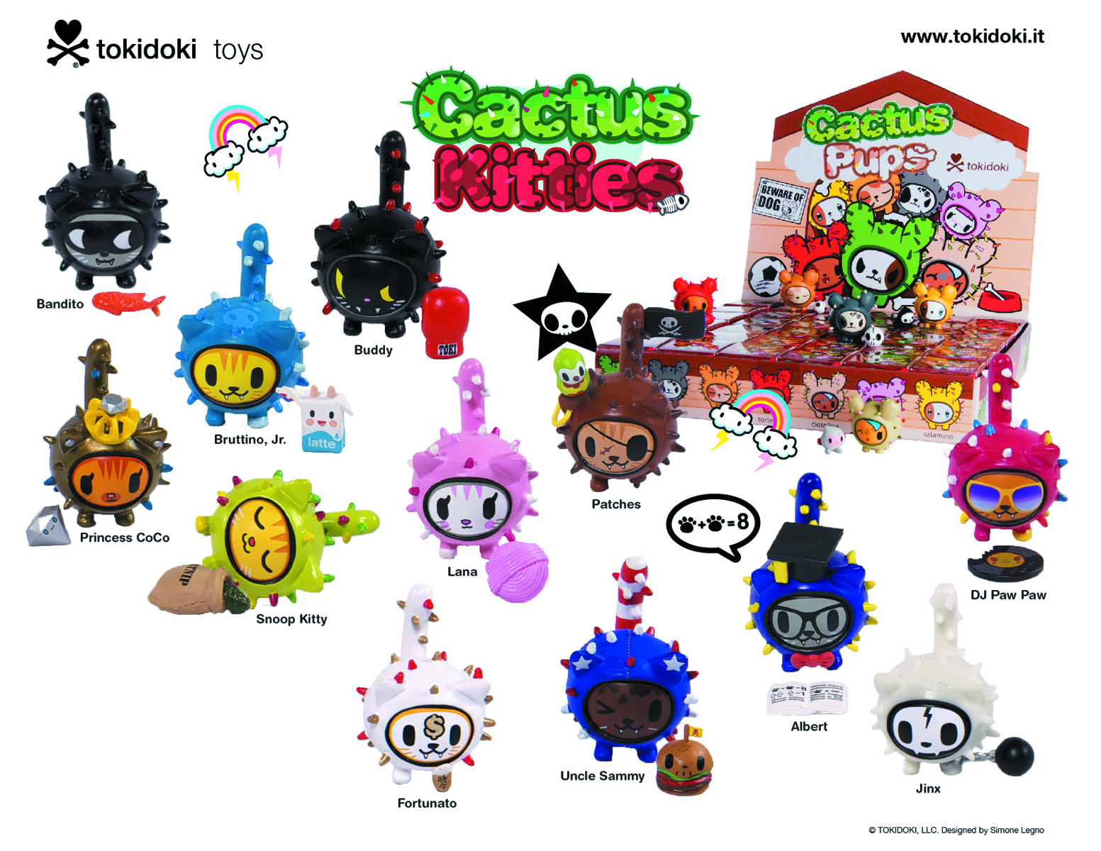 TOKIDOKI CACTUS KITTIES 30PC BMB DS
