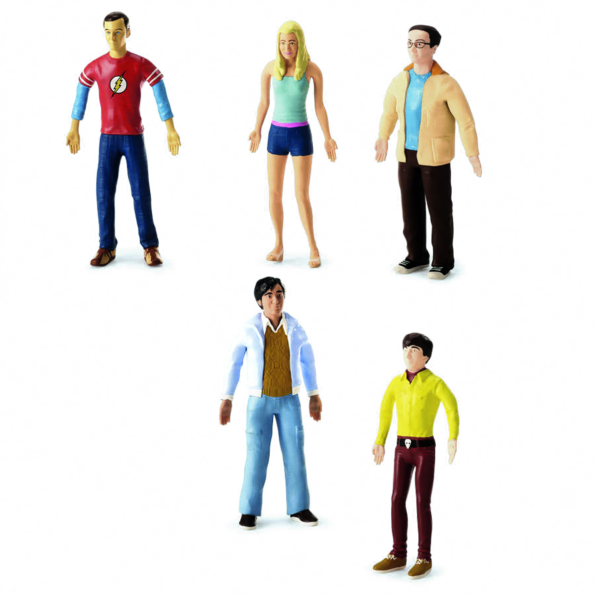 BIG BANG THEORY BENDABLE FIGURE 24PC ASST