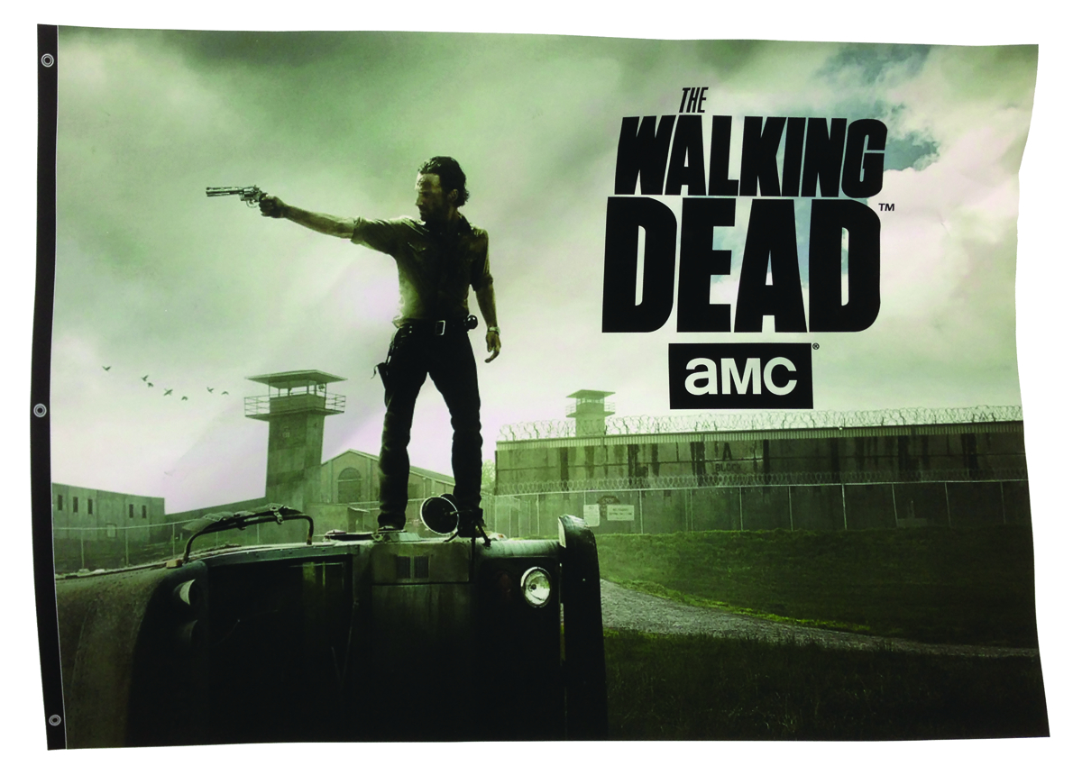 WALKING DEAD TV RICK BUS BANNER