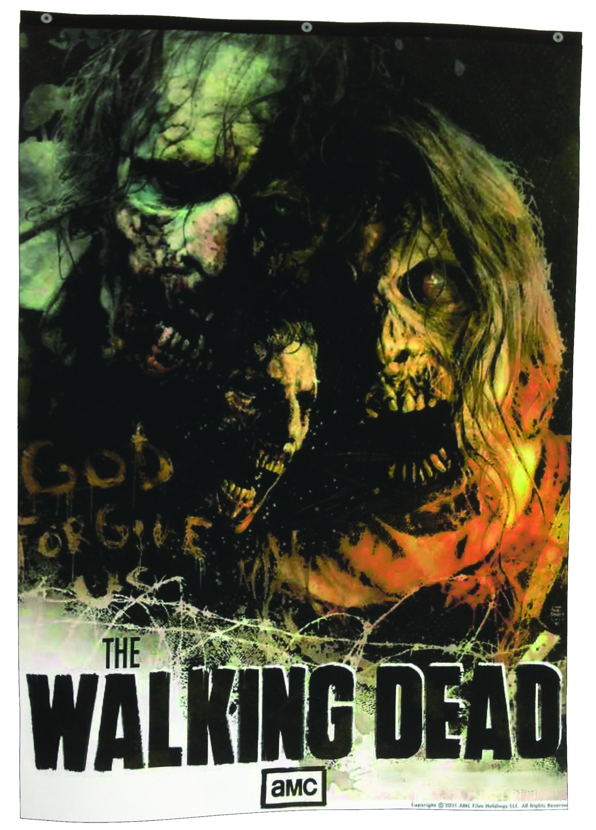 WALKING DEAD TV ZOMBIE BANNER