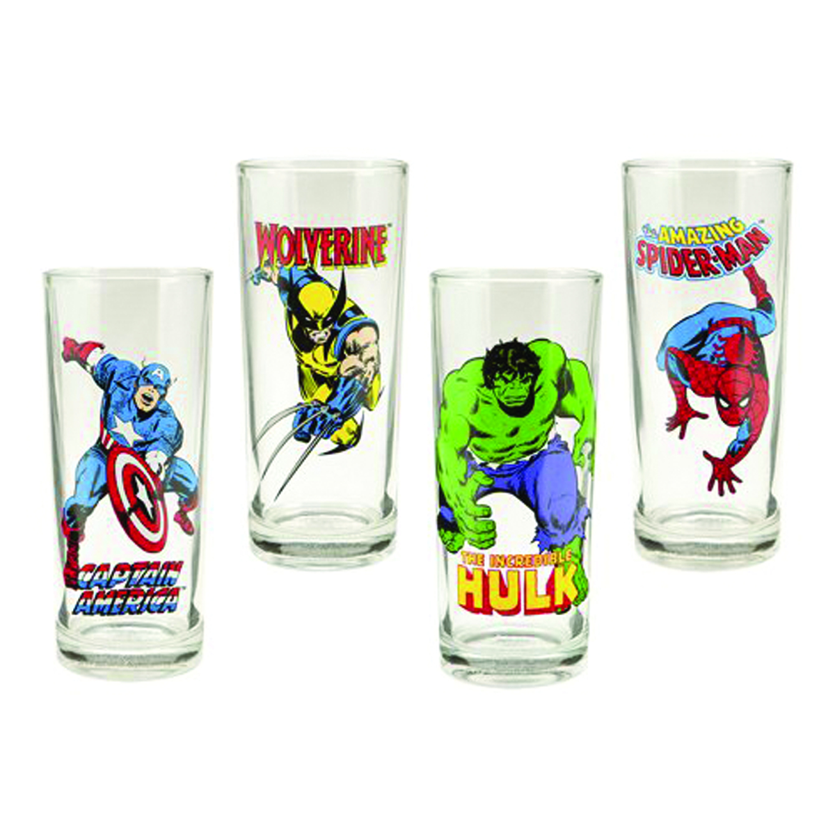 MARVEL HEROES 4PC 10OZ GLASS SET