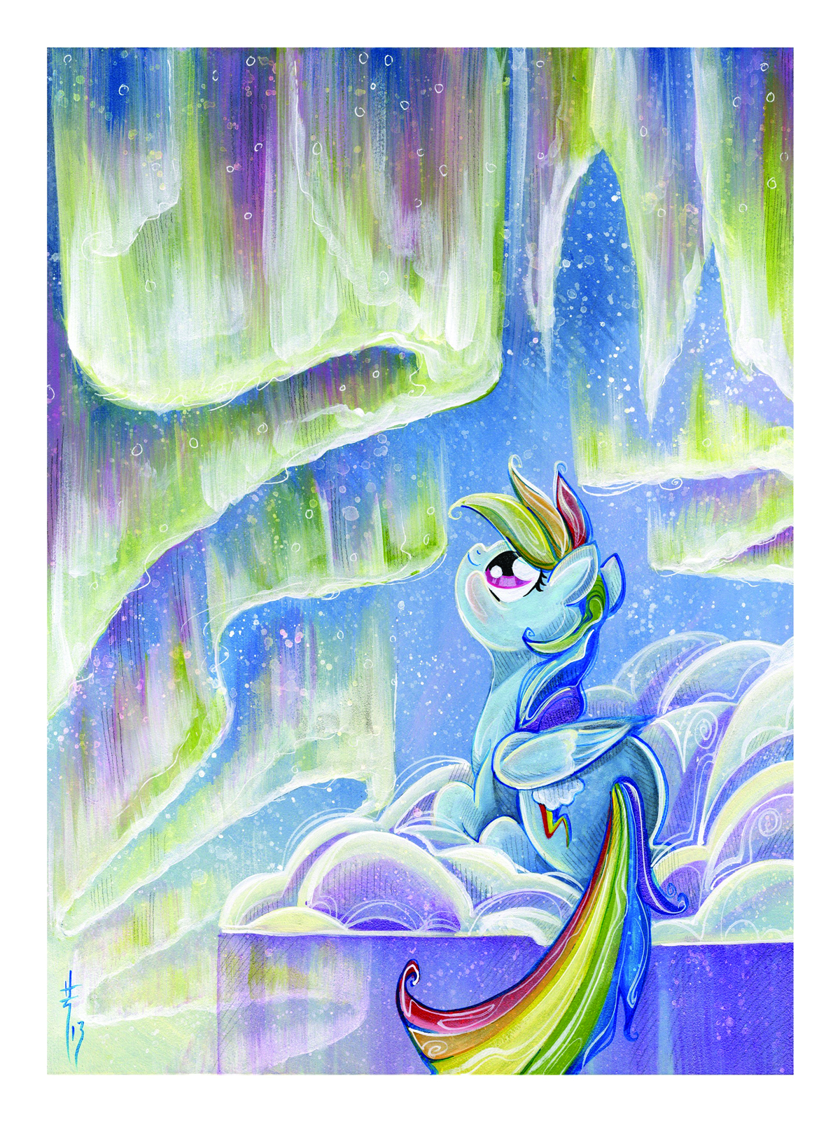 MY LITTLE PONY RAINBOW DASH LITHOGRAPH SIGNED ED