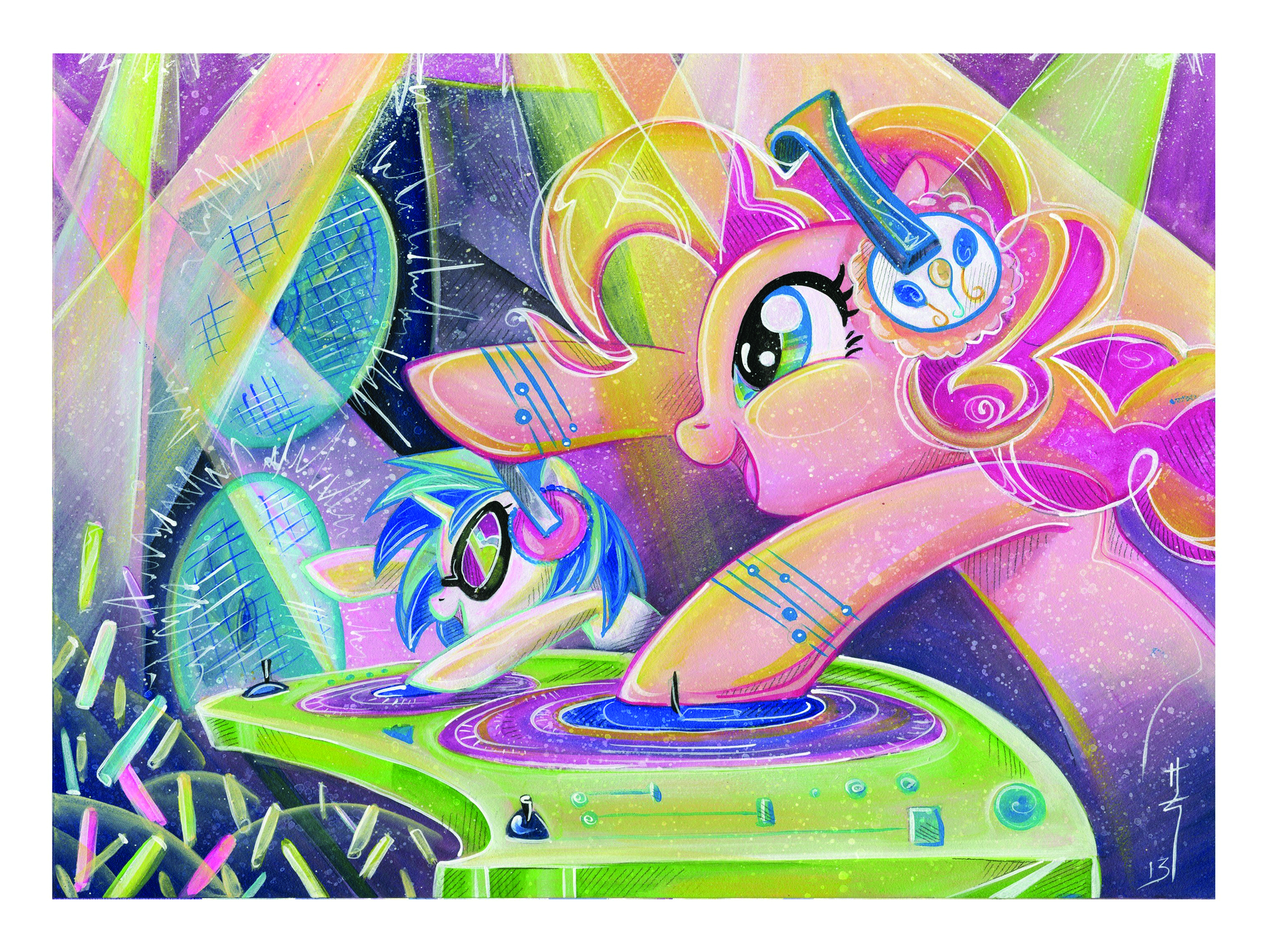 MY LITTLE PONY PINKIE PIE LITHOGRAPH SIGNED ED