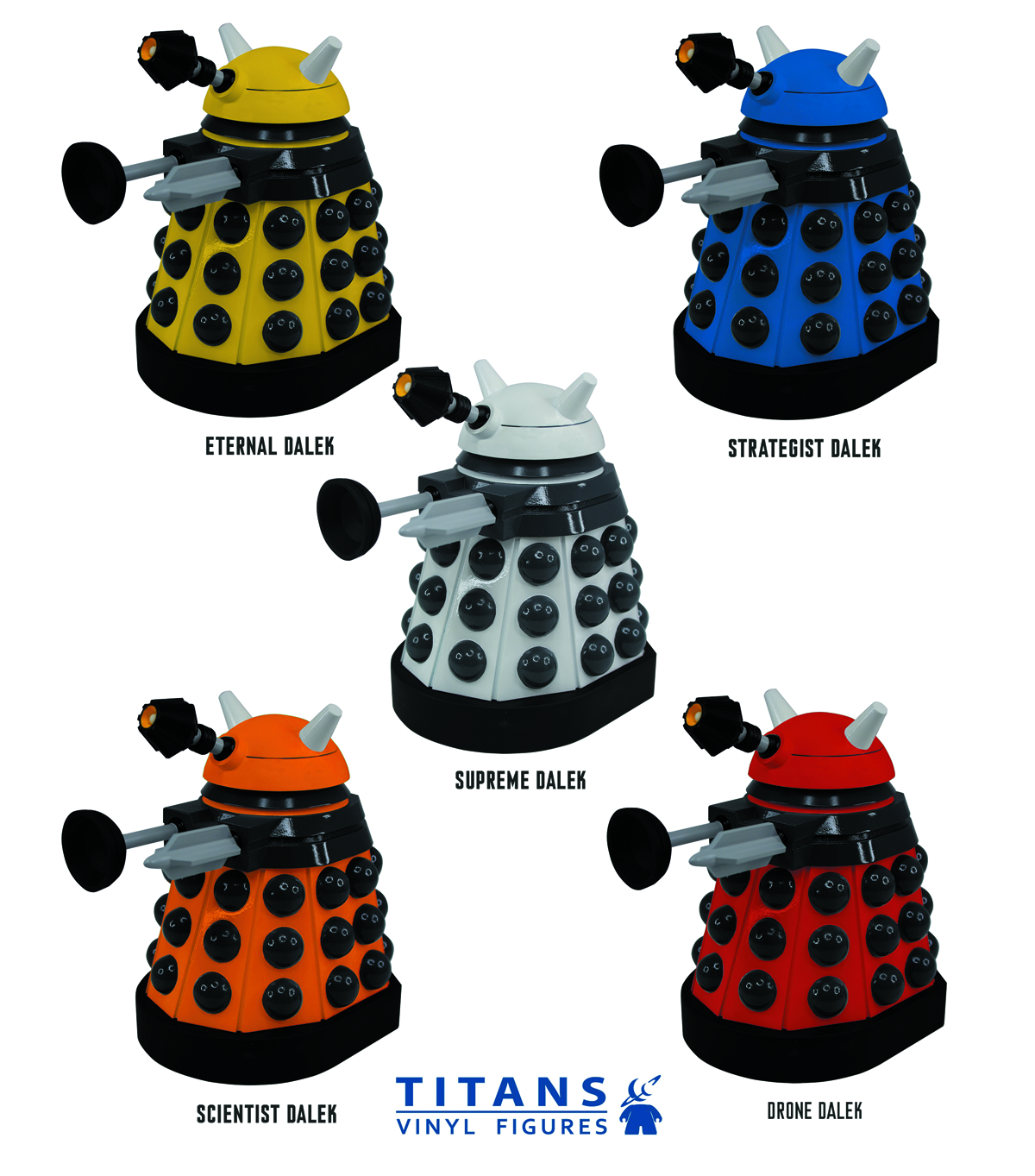 DOCTOR WHO TITANS ETERNAL DALEK 6.5IN VINYL FIG