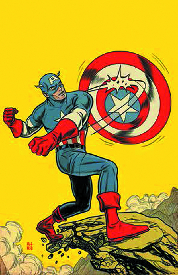 CAPTAIN AMERICA LIVING LEGEND BY ALLRED POSTER