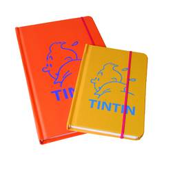 TINTIN ORANGE 21 X 13CM NOTEBOOK