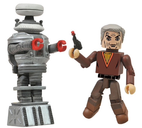 LOST IN SPACE DR SMITH & B9 MINIMATES 2-PK