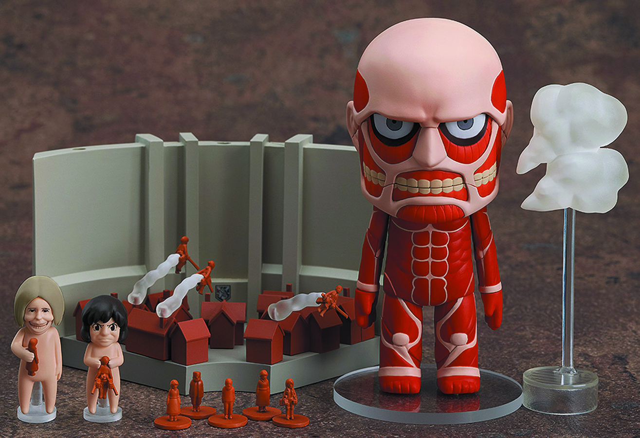 ATTACK ON TITAN COLOSSAL TITAN & PLAYSET NENDOROID