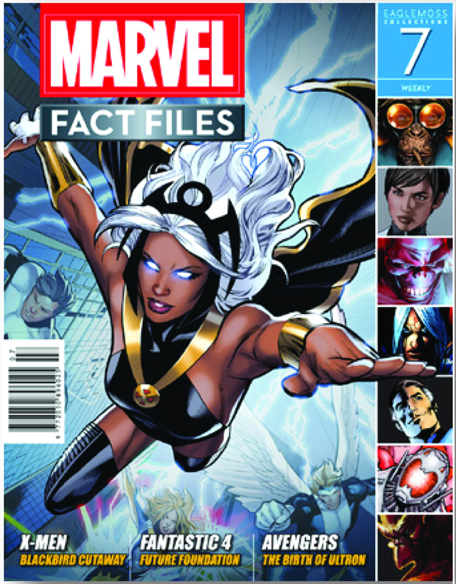 MARVEL FACT FILES #7 STORM COVER