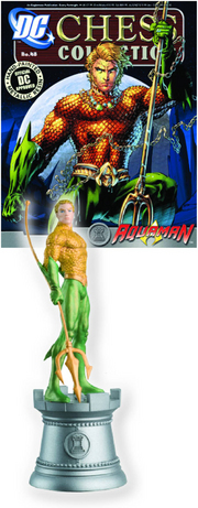 DC SUPERHERO CHESS FIG COLL MAG #48 AQUAMAN WHITE ROOK