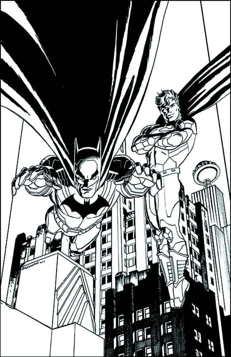 BATMAN SUPERMAN #5 BLACK & WHITE VAR ED