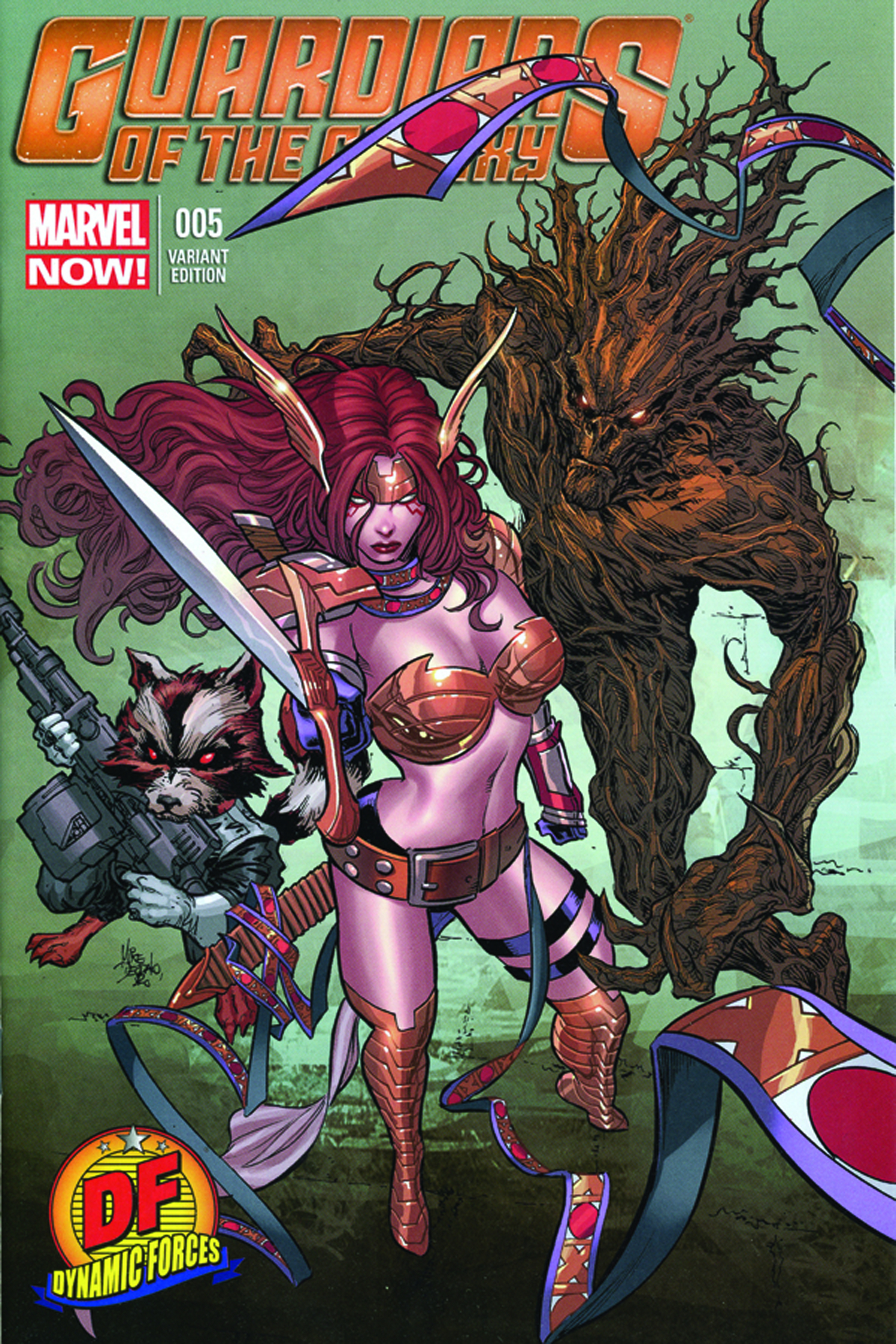 DF GUARDIANS OF THE GALAXY #5 LEE SGN ED
