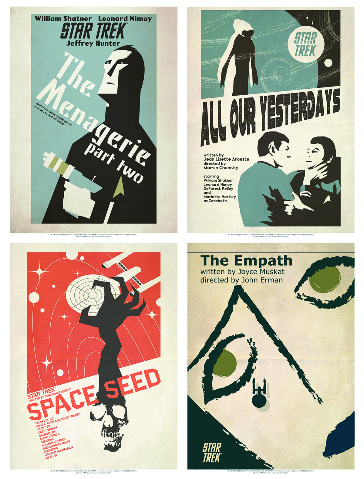 STAR TREK TOS ART PRINTS SET 11