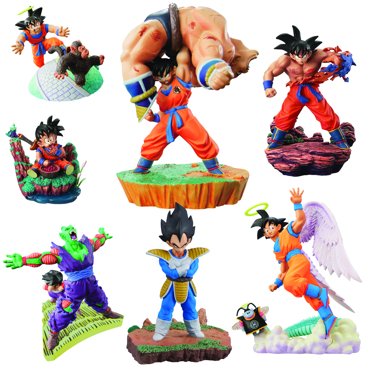 DBZ WARRIOR RACE SAIYAN CAPSULE R 7PC DS