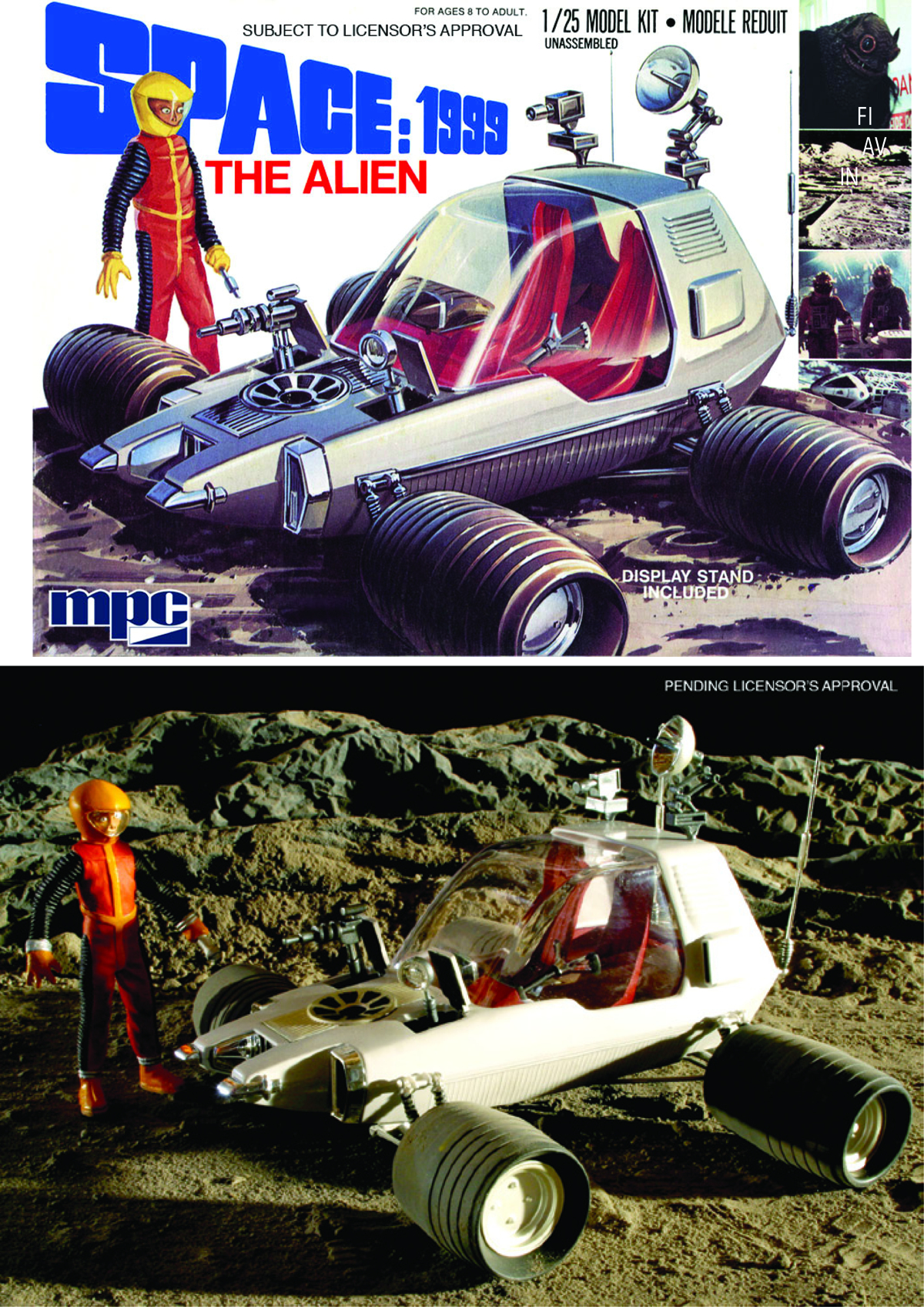 SPACE 1999 ALIEN MOON ROVER 1/25 SCALE MOD KIT