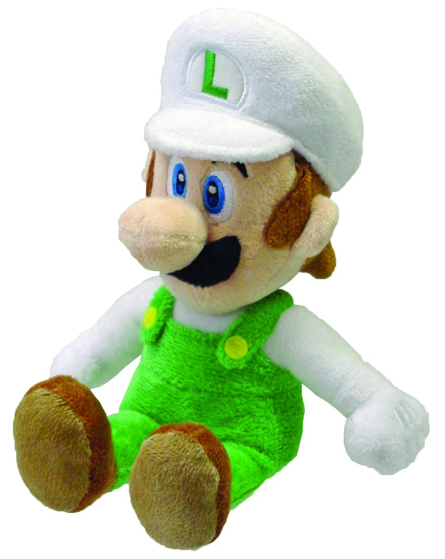 SUPER MARIO BROS FIRE LUIGI 9IN PLUSH